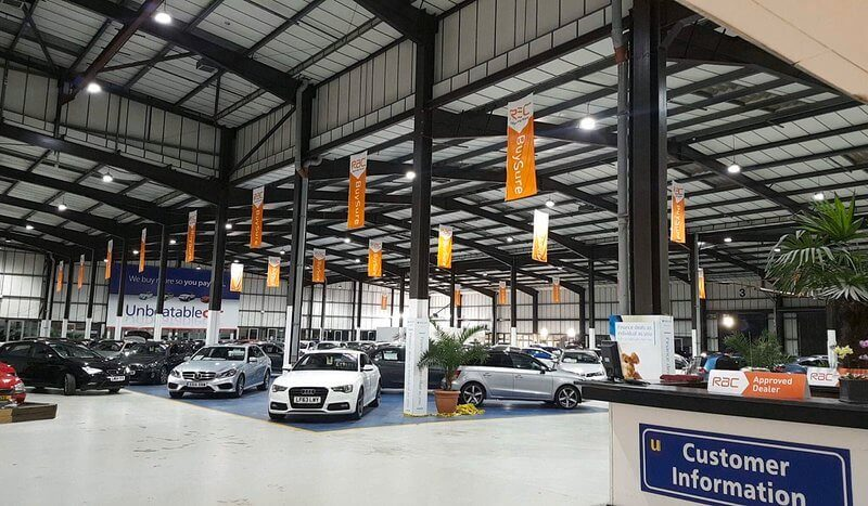 Commercial LED lighting solutions for a car dealership